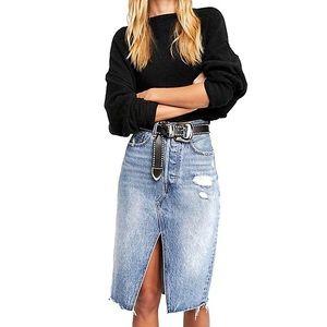 NWT Levi's Free People Denim Pencil Skirt Sz 29
